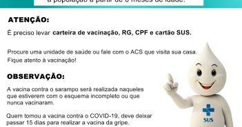 Campanha de Vacinação contra a Gripe e Sarampo
