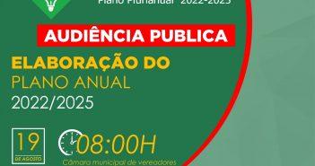 Audiência Publica – Elaboração do Plano Anual 2022/2025
