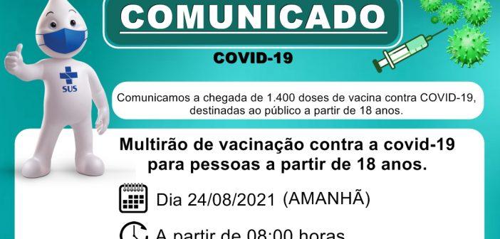 Comunicado Oficial sobre a Covid-19 – Vacinação para 18 anos
